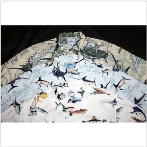 Guy Harvey by Aftco Short Sleeve Button Up Shirts